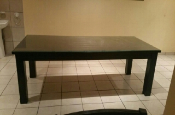 Dining room table with glass PRICE REDUCED!!!