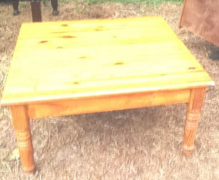 Pine bureau(ideal for a little girl)  and pine coffee table