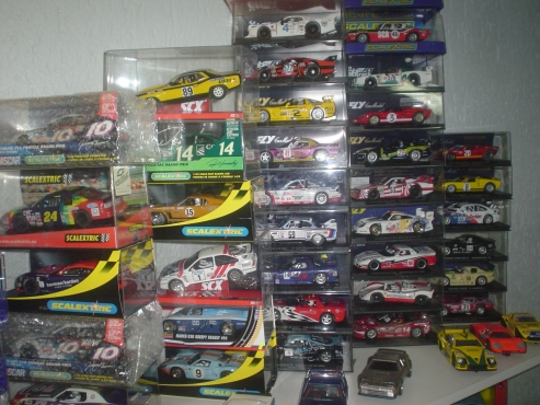 slot car collection,scx,fly,gb track ,ninco,scalextric,sale from R650 ea or swop car or why