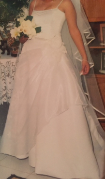 Stunning wedding dress - Custom Made BARGAIN (and accessories)