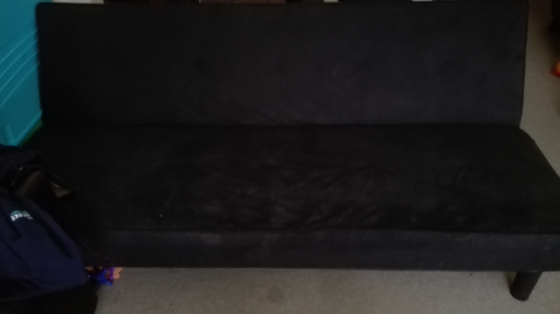 Sleeper couch black