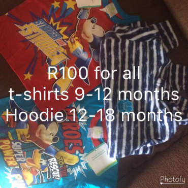 T Shirts and hoodies