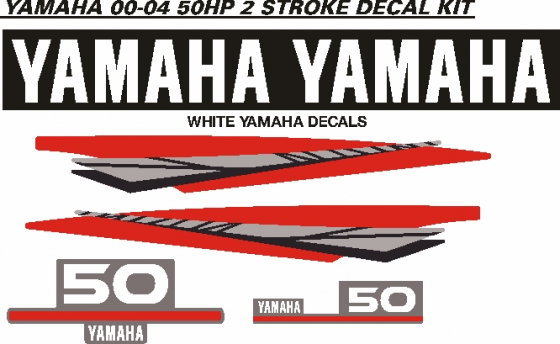 Yamaha 60 hp two stroke outboard motor decals stickers graphics kits