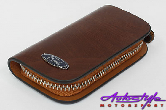 Ford Tan Leather Zip