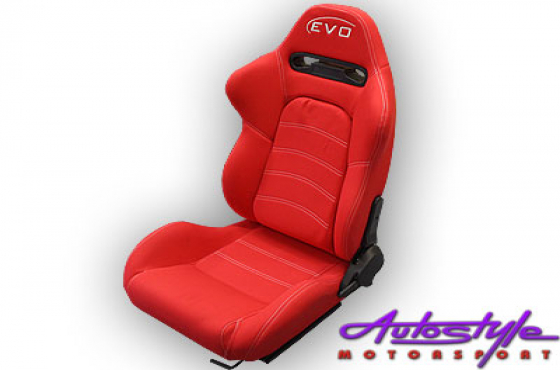 Evo Tuning GT Reclinable Racing Seats (red)
