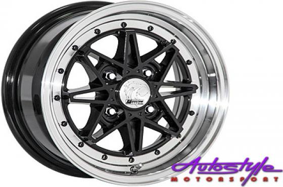13 A-Line Hotshot BKML 4/114 Alloy Wheels