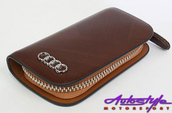 Audi Tan Leather Zip