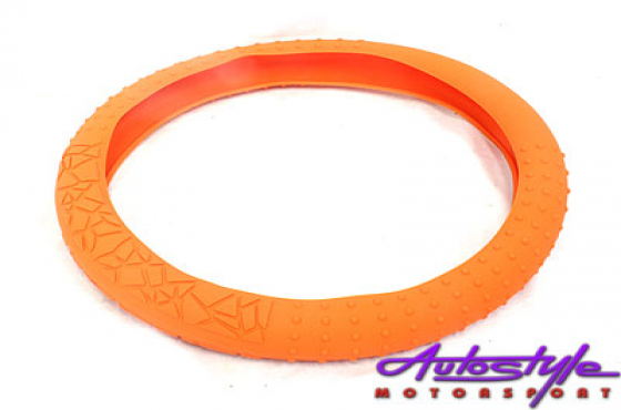 NX Silicon Steering Wheel Cover (orange)