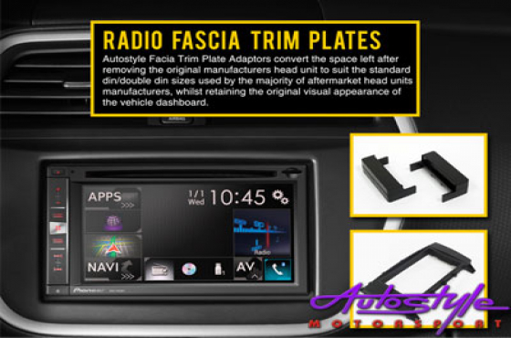 Radio Fascia Trim Plate for Daihatsu Sirion 08+