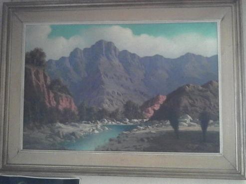 Original Oil Painting - Gawie Cronje 1970
