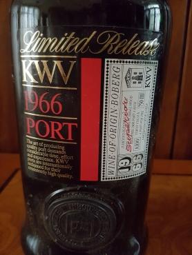 1966 KWV LIMITED RELEASE VINTAGE PORT.