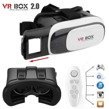 VR Box 2.0 Virtual Reality 3D Glasses Helmet VR BOX Headset with Bluetooth gaming remote