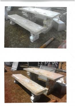 Beton tafel en beton bankie