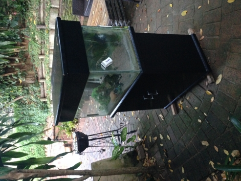 160 liter fish tank and cabinet