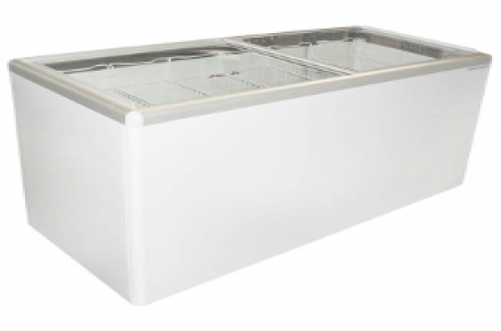 Freezer glass top 520 litre