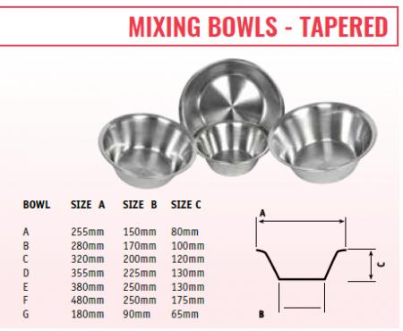 MIXING BOWLS - TAPER