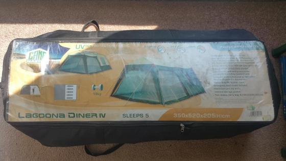 Tent Lagoona Diner IV 5 man, Camping Tent