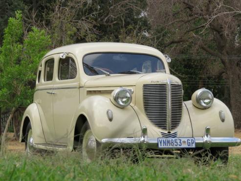 Chrysler 1938 model running and licensed