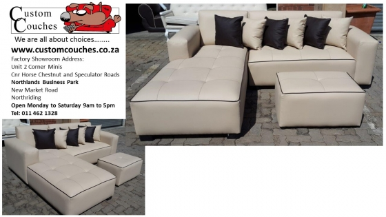 Custom Couches: The L Shape Medium Special R5950