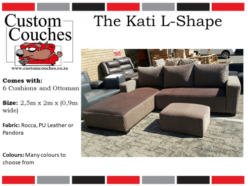 Showroom Open Today at Custom Couches - The Kati L Shape R7100