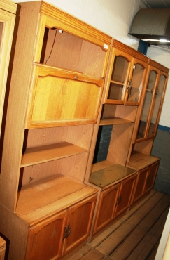 3 P/ce Wall Unit Oak