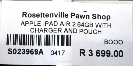 Apple Ipad Air 2 64Gb S023969A