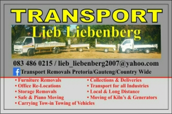 Removals FROM Gauteng to the East Coast