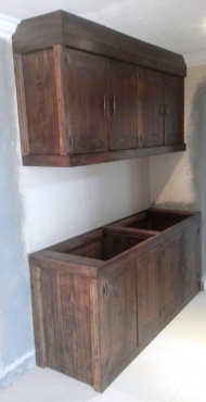 Kitchen Cupboard Farmhouse series 1800 Combo 2 Stained
