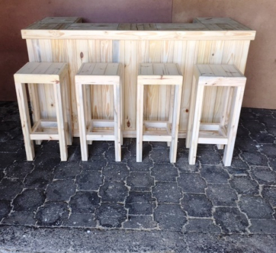 Bar Counter Farmhouse series 2000 and stool Combo Raw