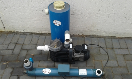 Complete koi filter system