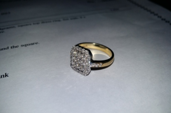 NEW TWO TONE ENGAGEMENT RING