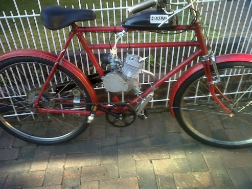 Motorised vintage bicycles build
