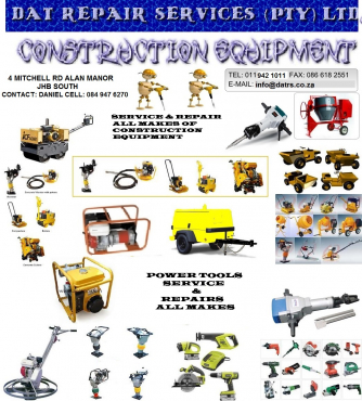 CONSTRUCTION EQUIPMENT REPAIRS AND SERVICE