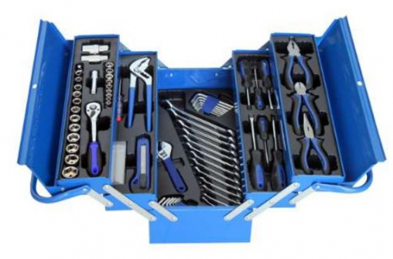 77 pce Steel Toolbox with Tools