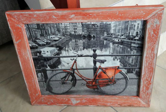 Framed puzzle - Bike on bridge - Amsterdam