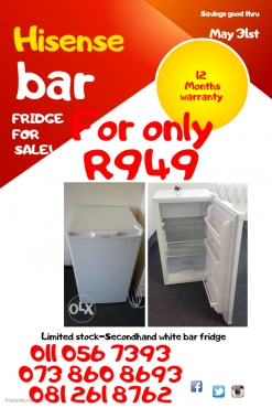 Bar fridge-immaculate condition R949