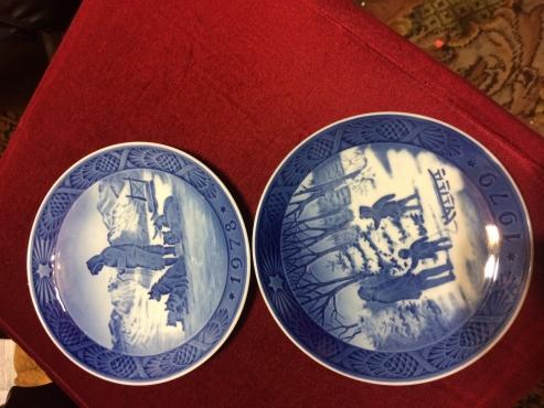 Royal Copenhagen Xmas Plates
