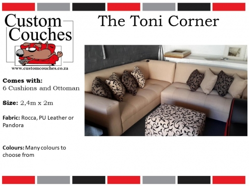 Showroom Open Today at Custom Couches - The Toni Corner R6999