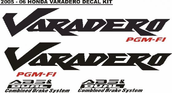 Honda Varadero decals stickers graphics kits