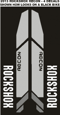 Rockshox Fork Decals Stickers Graphics