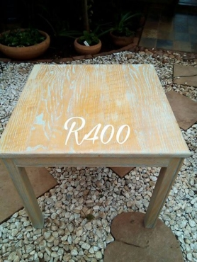 Wooden blue dusted table
