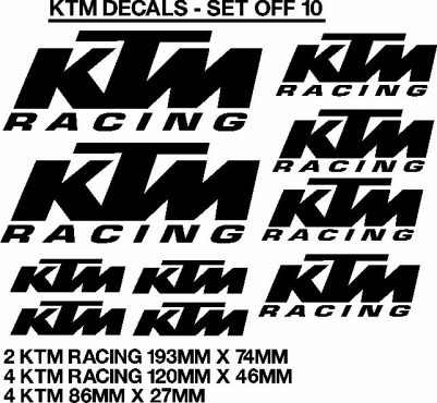 KTM decals stickers graphics kits