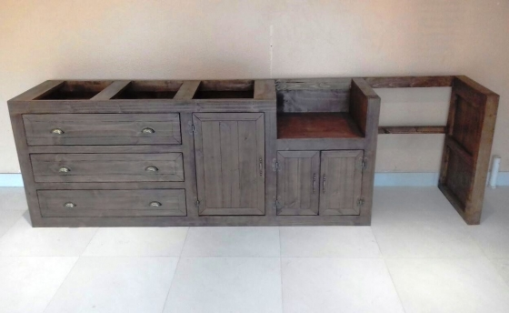 Kitchen Cupboard Scullery unit Farmhouse series 3200 Stained