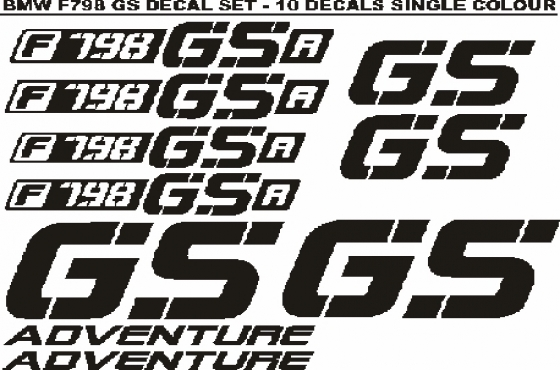 BMW F798 GS decals stickers graphics sets