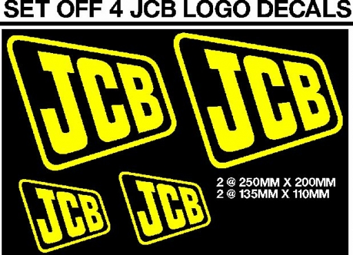 Jcb vibromax decals stickers graphics sets
