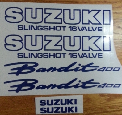 Suzuki Bandit GSF models decals stickers graphics sets