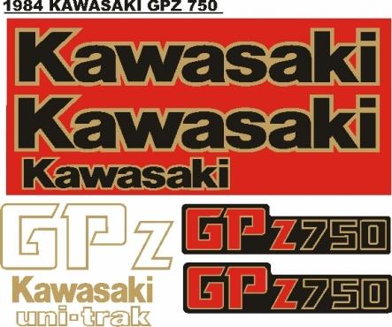 1984 Kawasaki GPZ 900R decals stickers graphics kits