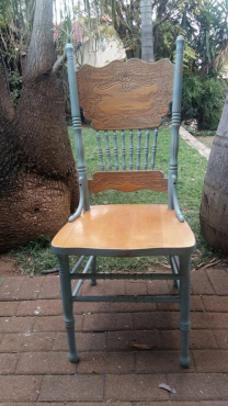 4 Chalk painted chairs