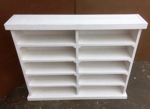 CD Rack Farmhouse series 1200 White washed
