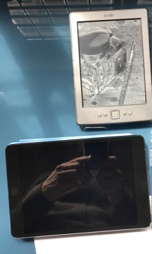 Ipad mini and a Kindle